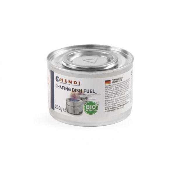 Pâte combustible pour chafing dish en boîte NL DE FR EN