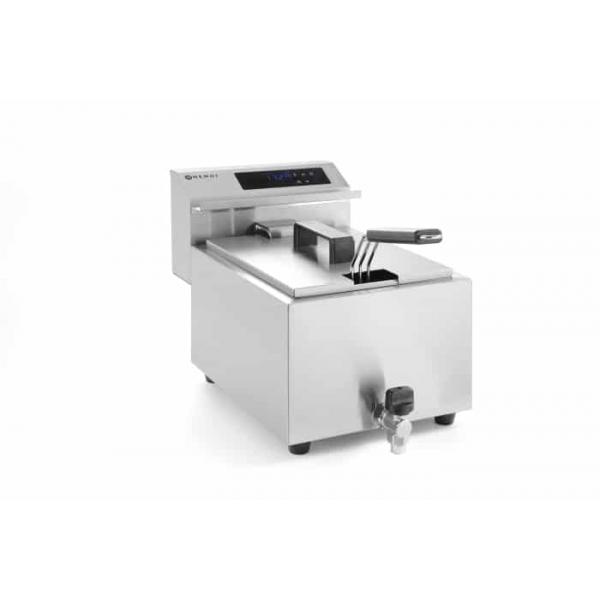 Friteuse Mastercook avec robinet de vidange numérique - 8 l