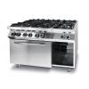 Cuisiniére Kitchen Line - 6 feux avec four à convection électrique GN 1/1