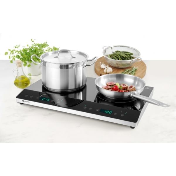 Plaque de cuisson à induction double avec boost