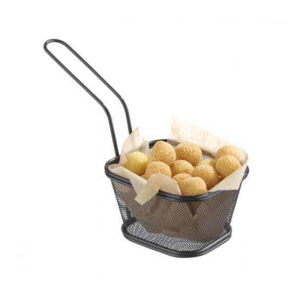 Paniers à frites miniatures empilables noir