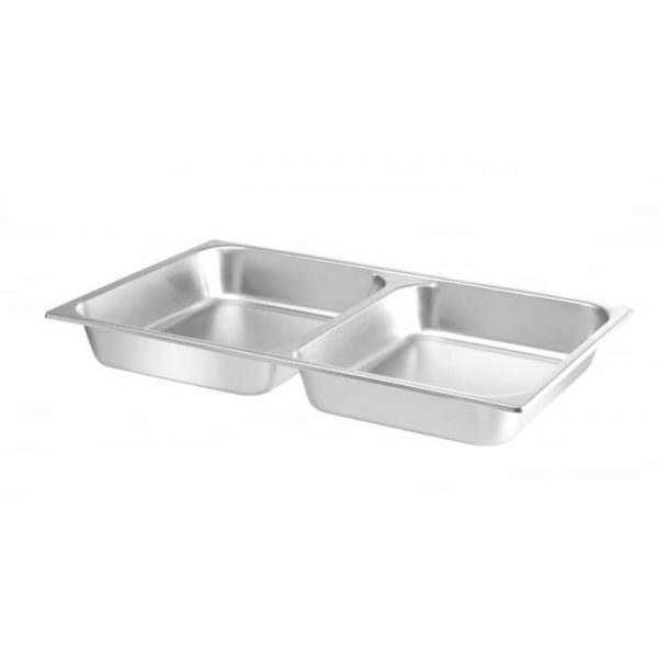 Bac GN 1/1 pour chafing dish avec 2 compartiments