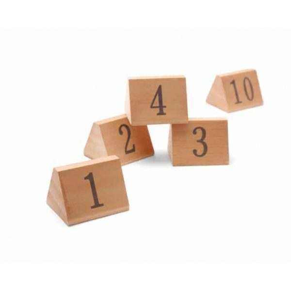 Chevalets de table numérotés